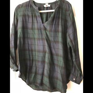 Loft plaid blouse.